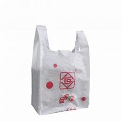 HDPE t shirt handle bag for shopping