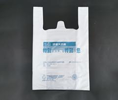custom HDPE t shirt side gusset bag for shopping