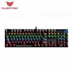 104键机械键盘有线青轴电脑USB连接
