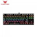 87 key mechanical keyboard wired green axis electronic sports game keyboard iron