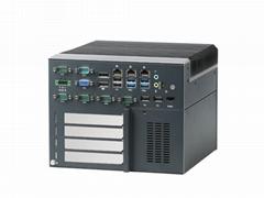 IPC工控機臺式電腦三千兆六串口無風扇主機嵌入式整機可擴展PCIe PCI