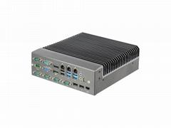 IPC工控機臺式電腦三千兆六串口無風扇主機嵌入式整機G4560I3I5I7