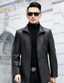 Autumn and winter new leather jacket men's slim zipper PU leather jacket men's
