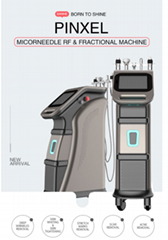 2021 newest San He Beauty exhibition level fractional rf microneedle machine wit