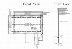 7寸投射式电容屏耐高低温