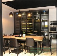 Stainless Steel Wine Whiskey Display Cabinet Wine Rack Cabinet