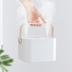 Portable Ultrasonic Air Humidifier Double Spray Handheld Rechargeable Mini