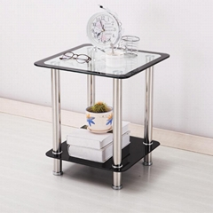 Stainless Steel Tempered Glass Coffee Table