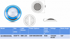 Underwater surface mounted IP68 LED Pool Lights