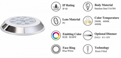 Resin Filled IP68 waterproof wall mounted LED Light