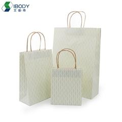 Eco-friendly takeaway food packaging bag kraft paper shopping bag
