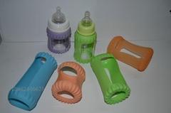 硅膠奶瓶套 奶瓶護套 硅膠套  玻璃瓶硅膠護套