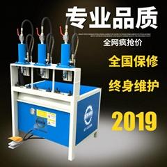 振凱三工位沖孔機的液壓腳踏鋅鋼護欄沖孔機