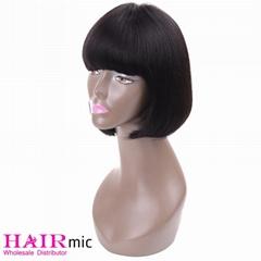 straight short bob wig with bang