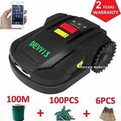 DEVVIS  Intelligent Rechargeable Lawn Mower Robot H750T