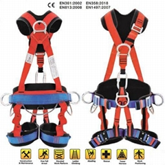 Industry Dielectric Fall Protection Roofing Full Body Safety Harness