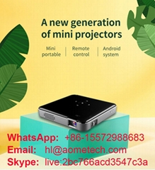 S80 DLP mini projector support 1080p  Android 7.1 OS wireless for cell phone mob