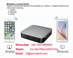 S200 portable projector Android 7.1 OS wifi wireless for phone DLP  LED proyecto