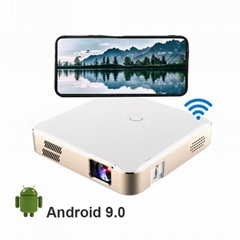 DLP led mini home theater projector S280 Android 9.0 with wifi mirror for phone
