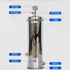 保安过滤器 水处理 精密过滤器 20寸5芯 PP棉过滤桶