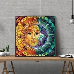 Simple Personality Sun Smiling Face Picture Handmade DIY Works Bright Diamond Lu