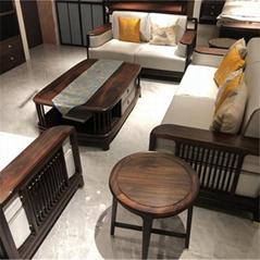 浙江东阳泓宋红木家具 新中式软体红木沙发 现代简约客厅沙发