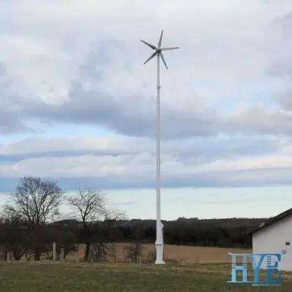 Energy Equipment 1500 Watts on Grid Wind Turbine with Hydraulic Tower 1