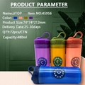 Portable Sofe Handle Carry Plastic Water Bottle