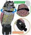Shaker owl farm bird scaring mouse animal model adorns outdoor garden