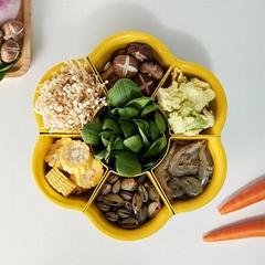 廠家批發家用廚房雙層塑料蔬菜洗菜籃水果旋轉盤瀝水可旋轉火鍋盤