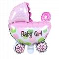 Foil Mylar Balloons Baby girl baby boy baby stroller shape decoration balloon