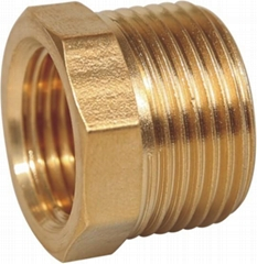 hot sale Wholesale Threaded Hex Nipple brass pipe fittings connector npt bspt th