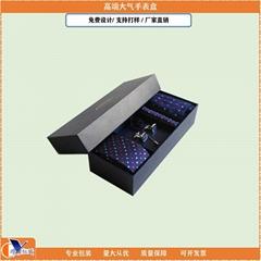 Wholesale Cardboard Organizer Luxury Bow Tie Cufflinks Paper Box Mens Tie Box