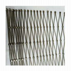 """Architectural Stainless Steel Wire Rope Mesh 7x19 and 7x17 Mesh 3""""x3"""" 75mm"""