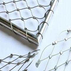 SS316L Ferrule Stainless Steel Wire Rope Mesh |ss Decorative Wire Mesh