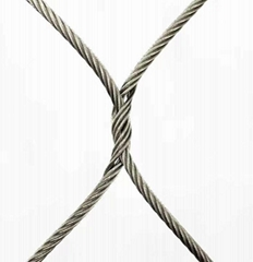High Tensile Strength Flexible Animal Enclosure 316 Stainless Steel Wire Rope Me