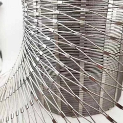 protective stainless steel wire rope mesh for zoo animal cages