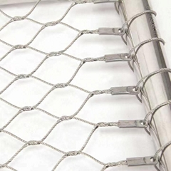 Hot sale Zoo wire rope mesh 316 316L stainless steel flexible wire mesh netting