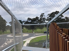 Diamond Ferruled Stainless Steel Wire Rope Balcony Infill Mesh