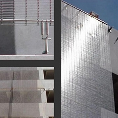 Decorative Aluminum Expanded mesh for exterior facade/Expanded metal mesh for de