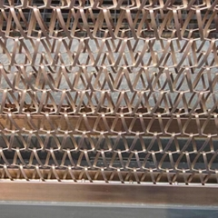 Outdoor architectural decorative metal spiral wire mesh curtain for room divider