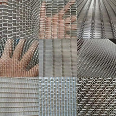 Colored Coating Spiral Weaving Wire Belt Mesh For Decoration Mesh Curtain