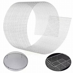 High temperature crimped woven 3mm stainless steel wire mesh