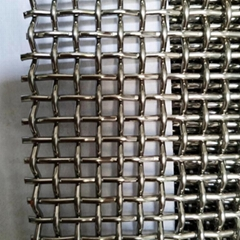 SUS 304 316 316l 6 8 10 12 14 20 mesh stainless steel crimped woven wire mesh