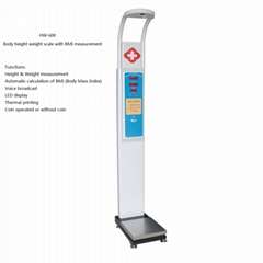 Height Weight scale, coin operated weight scale, body scale, BMI scale