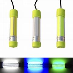 12V 60W COB LED Underwater Deep Drop Fish Lure Flashing Lamp Light