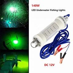 140W Underwater LED Fishing Bait 12V Fishing Lure Light