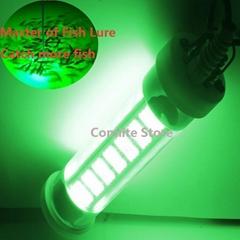 12V 200W LED Fishing Light Sea Light Underwater Fishing Light Battery Squid Fish