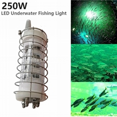 DC12-24V 250W LED Underwater Night Fishing Boat Light Fishing Lure with SUS Cage