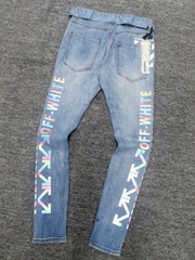 2021 new high-quality jeans LouisVuitton hot pants men's and women's jeans